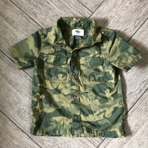 Old Navy camo button up